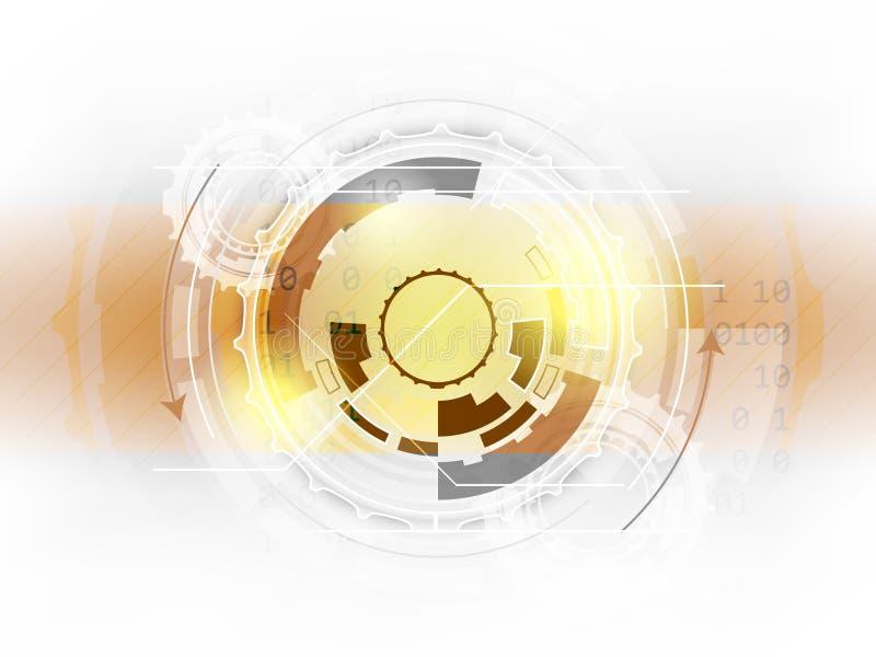 Abstrakt bakgrund för digital teknologi med kugghjul vektor illustrationer