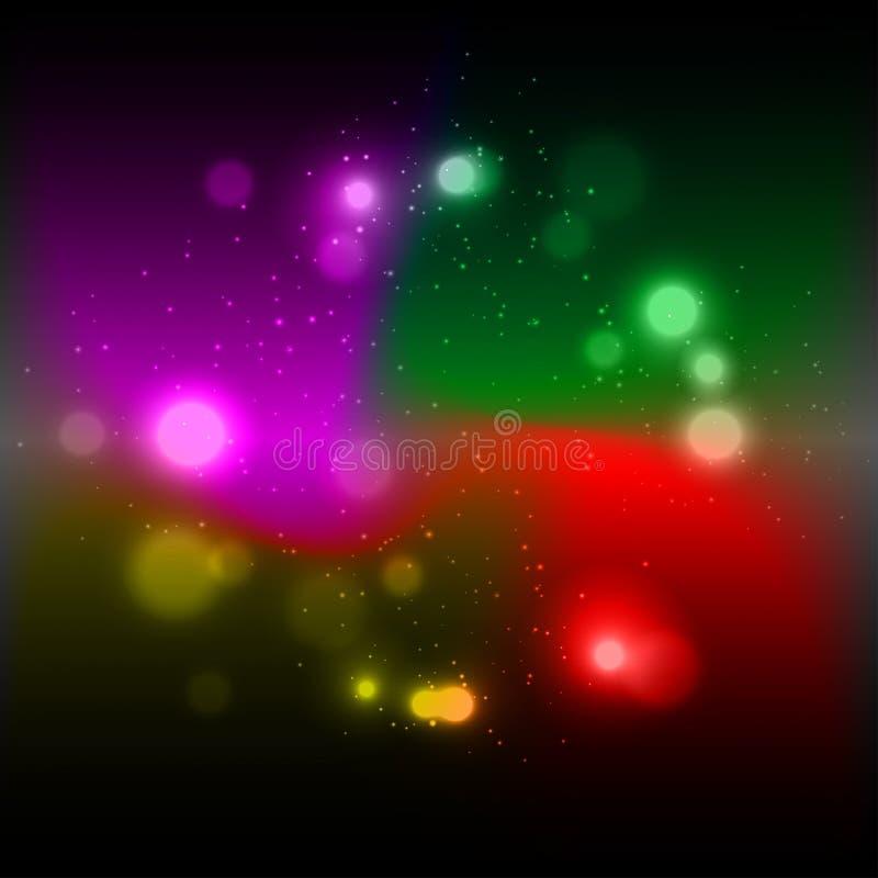 Abstrakt bakgrund för färgrika auraeffekter, illustration stock illustrationer