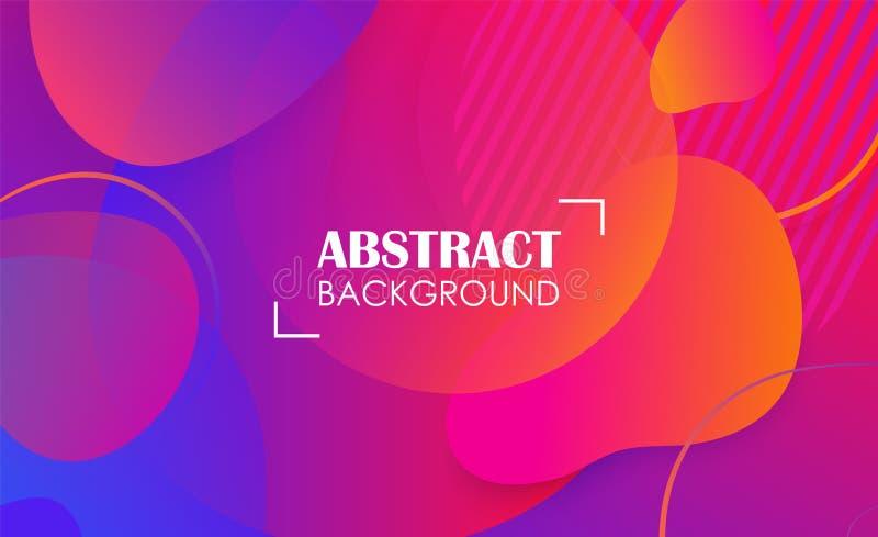 Abstrakt bakgrund för färgrikt geometriskt vätskeformbaner Malldesign och landasida med utrymme för text vektor illustrationer