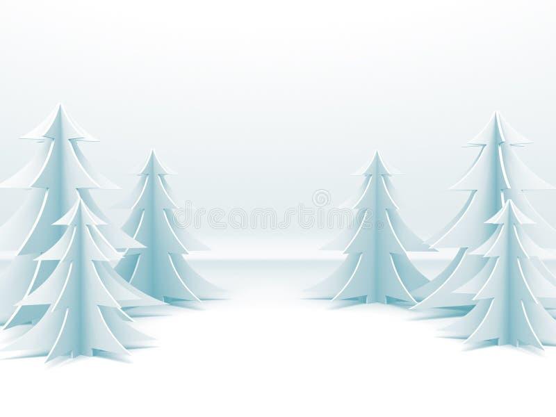 Download Abstrakt Bakgrund För Glad Jul Med Pappers- Träd För Nytt år Stock Illustrationer - Illustration av religion, hälsning: 78728807