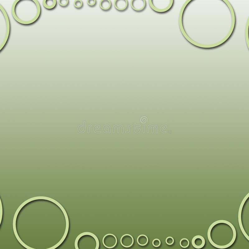 Abstrakt bakgrund för grön dee för cirkel tre royaltyfri illustrationer