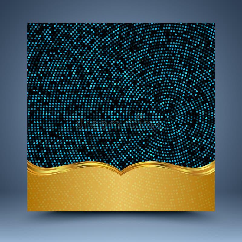 Abstrakt bakgrund för guld och för blått vektor illustrationer