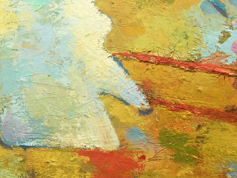 Abstrakt bakgrund för höst i impastostil arkivbild