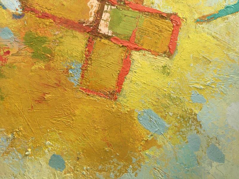 Abstrakt bakgrund för höst i impastostil royaltyfri fotografi