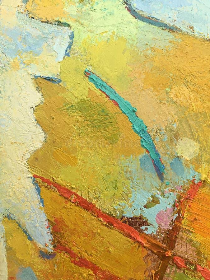 Abstrakt bakgrund för höst i impastostil arkivbilder