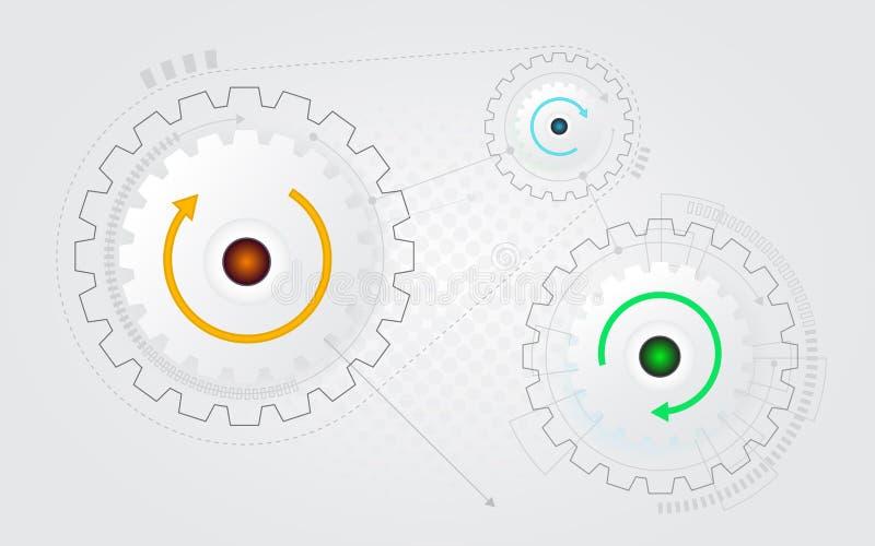 Abstrakt bakgrund för kuggekugghjulhjul royaltyfri illustrationer