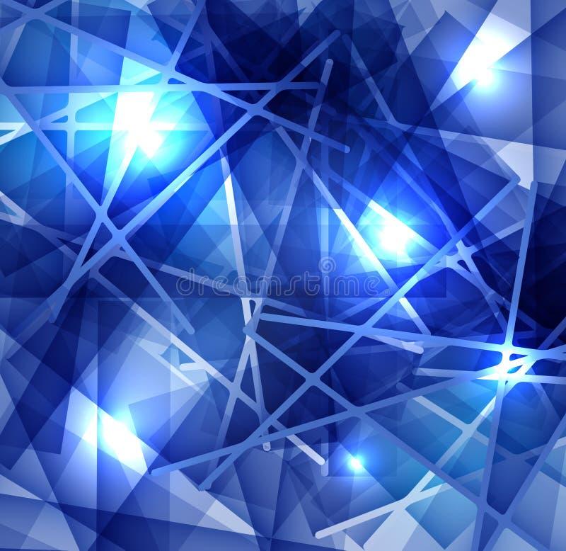 Abstrakt bakgrund för is med linjer textur av den frostiga yttersidan royaltyfri illustrationer