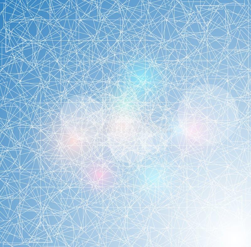 Abstrakt bakgrund för is med linjer textur av den frostiga yttersidan vektor illustrationer