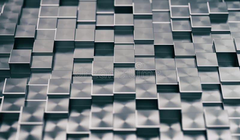 Abstrakt bakgrund för metalliska kvarter vektor illustrationer