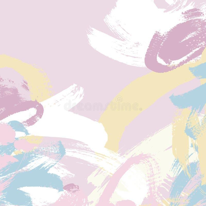 Abstrakt bakgrund för modell för målningborsteslaglängd stock illustrationer