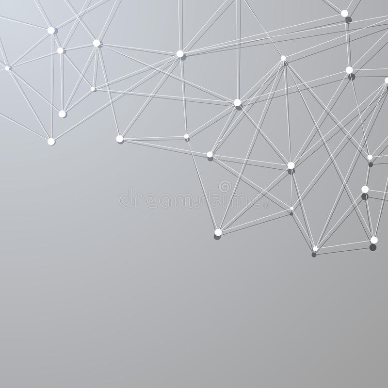 Abstrakt bakgrund för molekylär struktur för perspektiv stock illustrationer