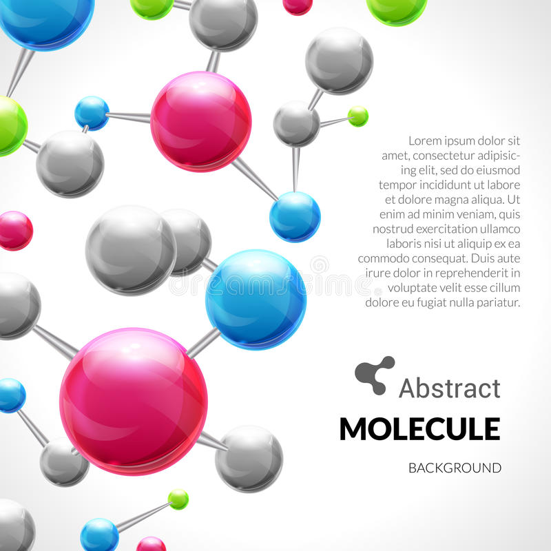 Abstrakt bakgrund för molekyl 3d royaltyfri illustrationer