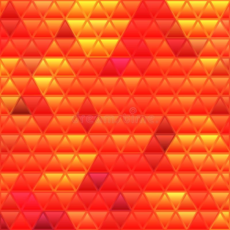 Abstrakt bakgrund för mosaik för vektormålat glasstriangel vektor illustrationer