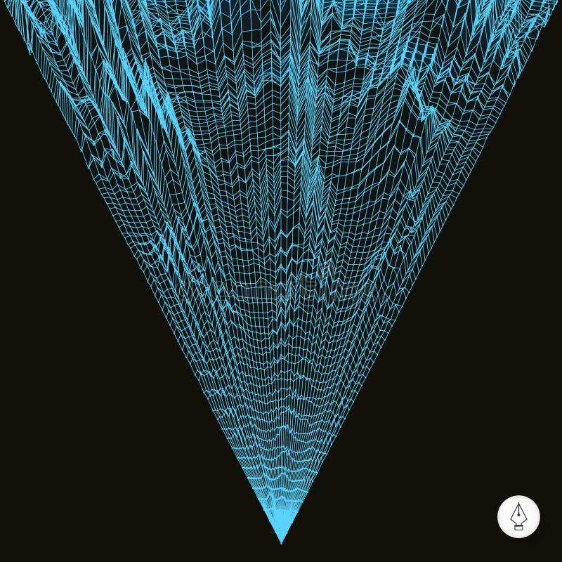 Abstrakt bakgrund för nätverk vektor för teknologi 3d stock illustrationer