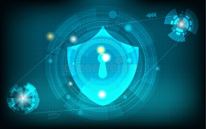Abstrakt bakgrund för nätverkssäkerhetsteknologi royaltyfri illustrationer