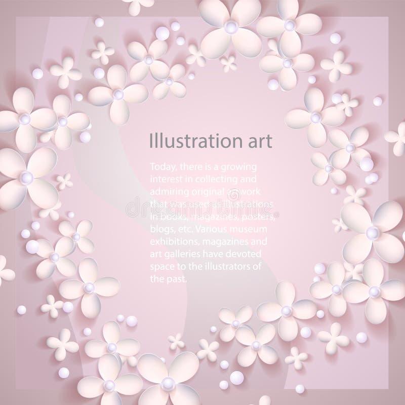 Abstrakt bakgrund för papper 3D royaltyfri illustrationer
