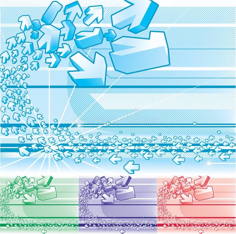 abstrakt bakgrund för pil 3d vektor illustrationer