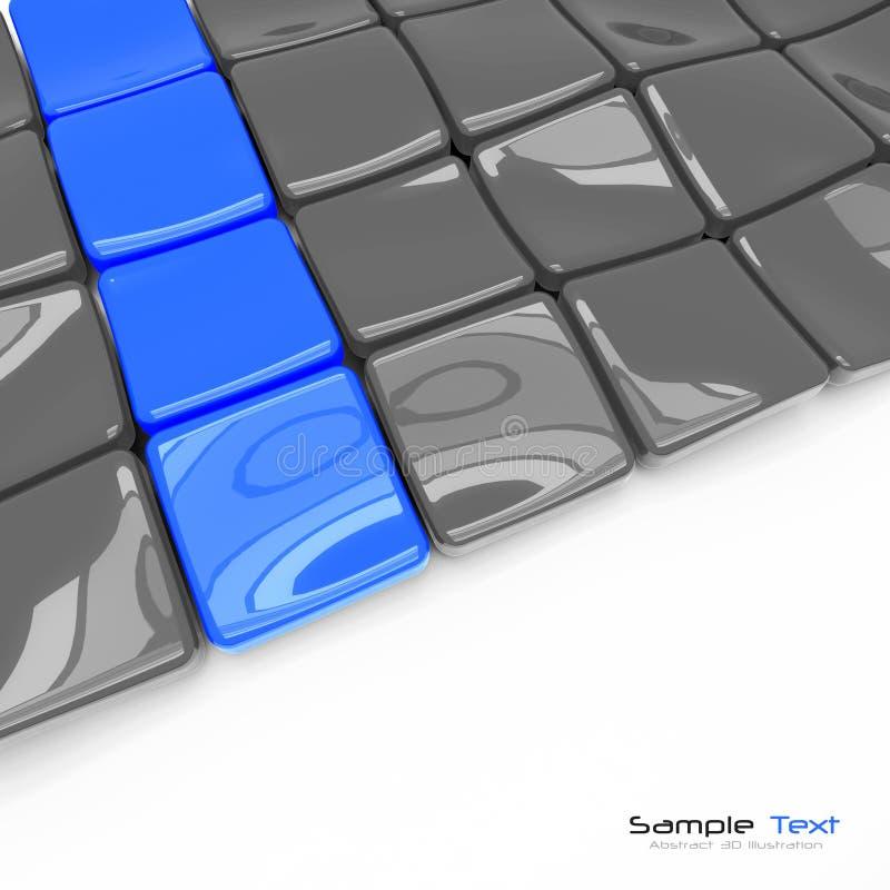 abstrakt bakgrund för plattor 3d vektor illustrationer