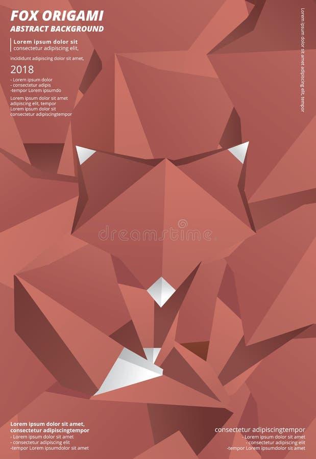 Abstrakt bakgrund för rävorigami vektor illustrationer