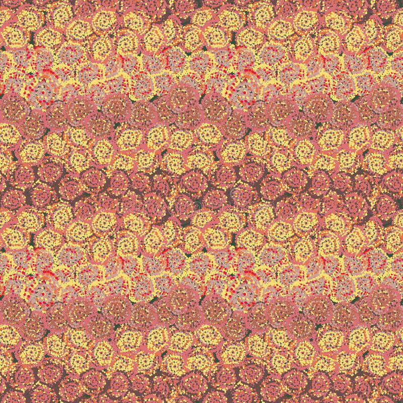 Abstrakt bakgrund för sömlös vektormodell som skapas med den fnoskiga rosen som former royaltyfri illustrationer