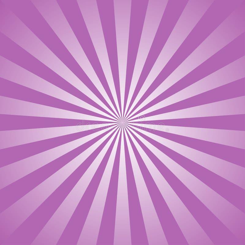 Abstrakt bakgrund för solljus lila- och lavendelfärgbristningsbakgrund också vektor för coreldrawillustration Solstrålstråle vektor illustrationer