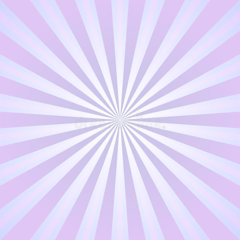 Abstrakt bakgrund för solljus Bakgrund för rosa färg- och lavendelfärgbristning också vektor för coreldrawillustration Solstrålst vektor illustrationer