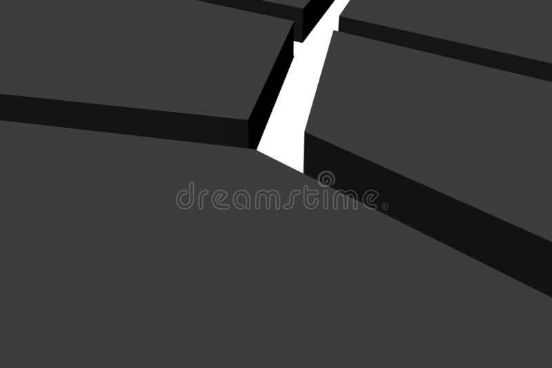 Abstrakt bakgrund för svart för geometrifyrkant 3d royaltyfria bilder