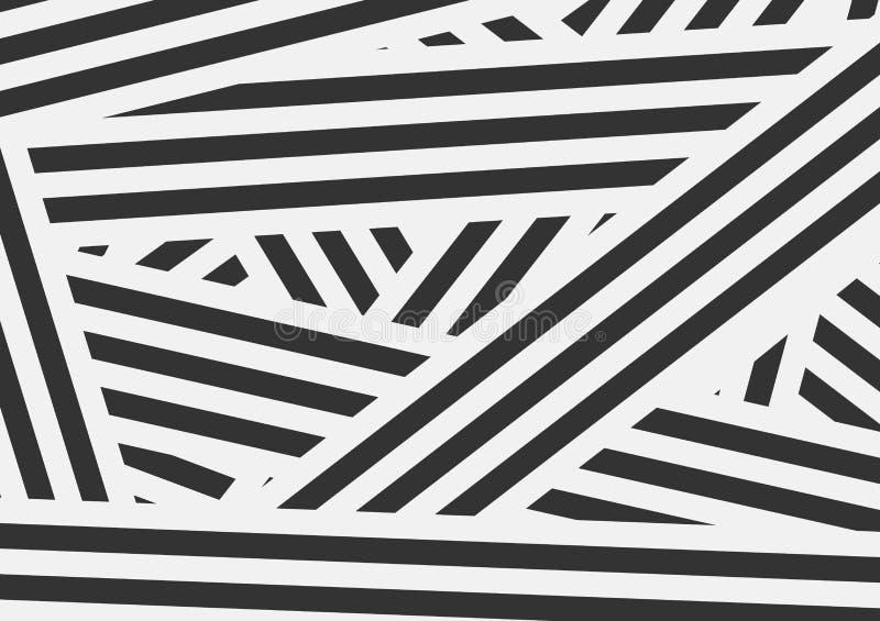 Abstrakt bakgrund för svartvita kontrastband stock illustrationer