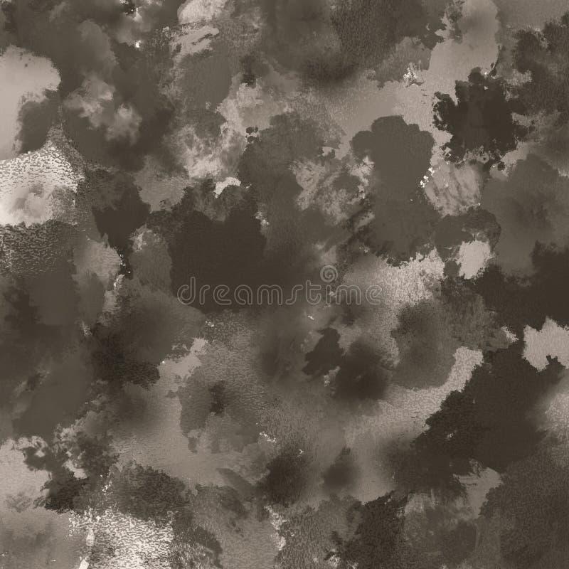Abstrakt bakgrund för tappningborsteslaglängder Det mörka temat målade yttersidakonstverk Bra för: affisch kort, dekor royaltyfri illustrationer