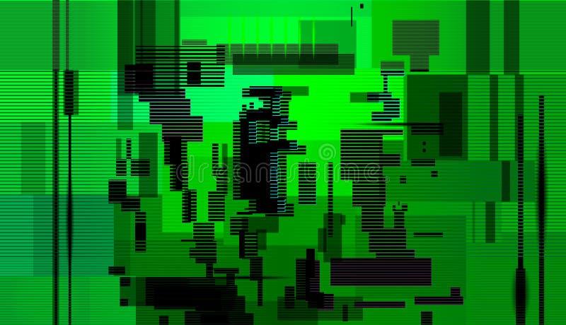 Abstrakt bakgrund för tekniskt fel, fel för datorskärm royaltyfri illustrationer