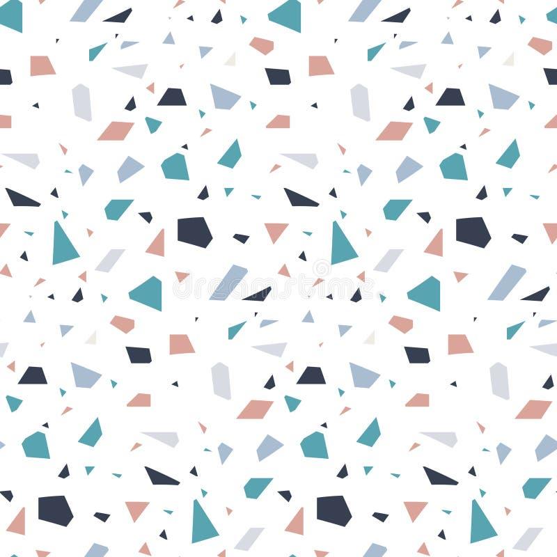 Abstrakt bakgrund för textur för golv för granitstenterrazzo royaltyfri illustrationer