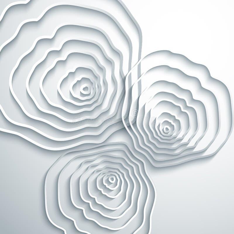 Abstrakt bakgrund för trädcirklar stock illustrationer