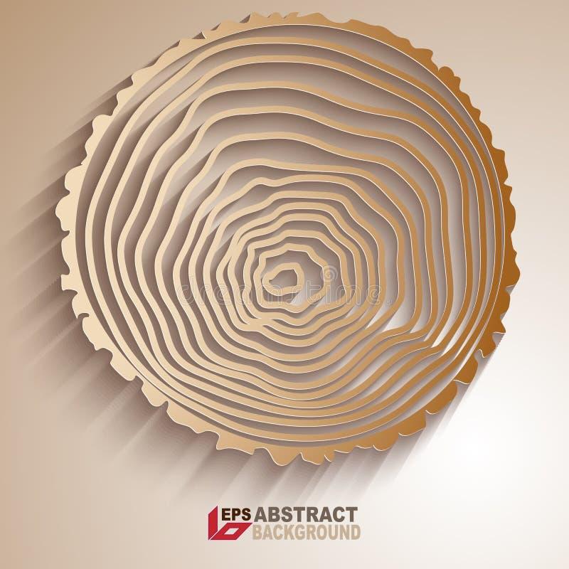 Abstrakt bakgrund för trädcirklar royaltyfri illustrationer
