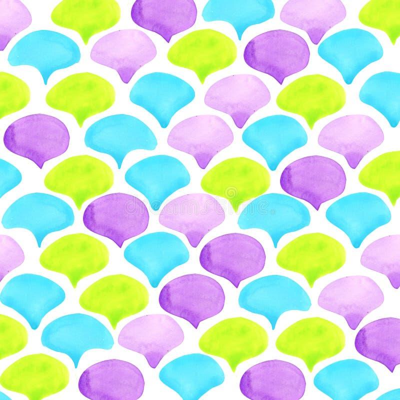 Abstrakt bakgrund för vattenfärgvågtextur arkivbild