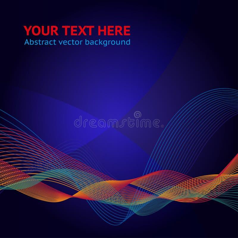 Abstrakt bakgrund för vektor för din design vektor illustrationer