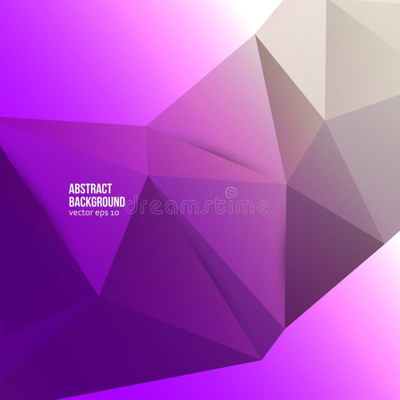 Abstrakt bakgrund för vektor. Geometrisk origami royaltyfri illustrationer