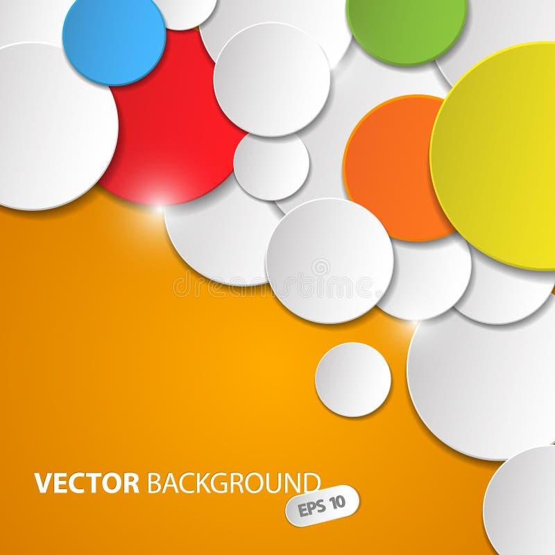 Abstrakt bakgrund för vektor med färgrika cirklar stock illustrationer