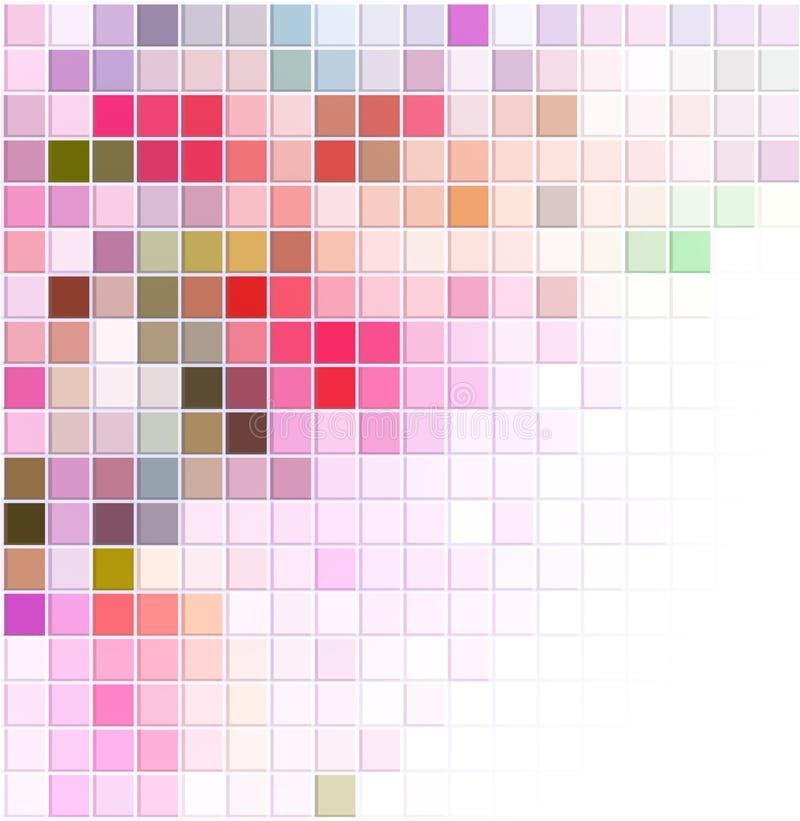 Abstrakt bakgrund för vektor med kulöra fyrkanter vektor illustrationer