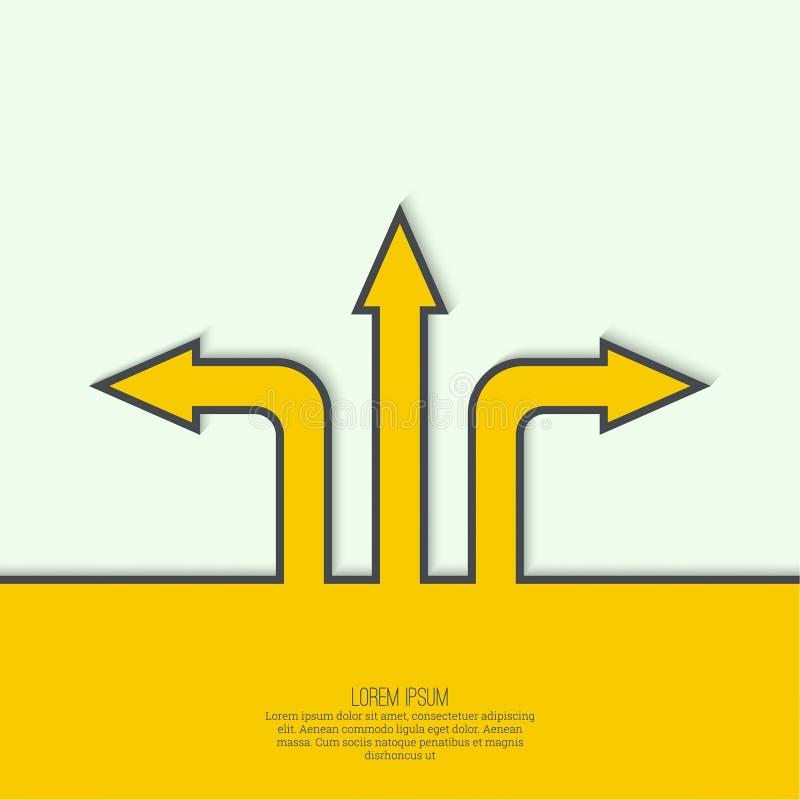 Abstrakt bakgrund för vektor med riktningspilen stock illustrationer