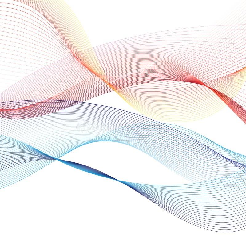 Abstrakt bakgrund för vektor med vågor royaltyfri illustrationer