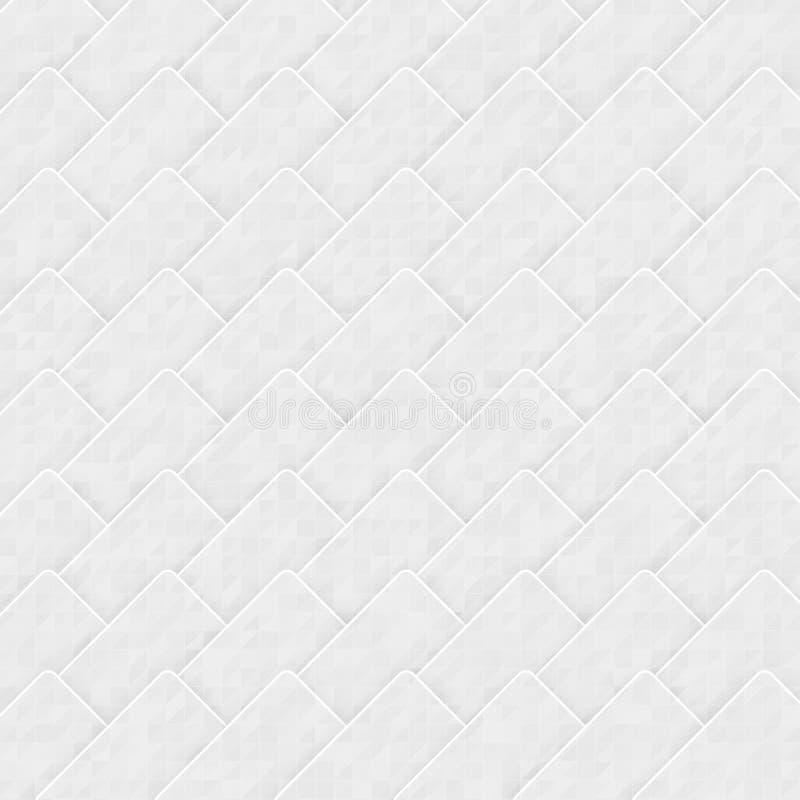 Abstrakt bakgrund för vektor. Origami och vit royaltyfri illustrationer
