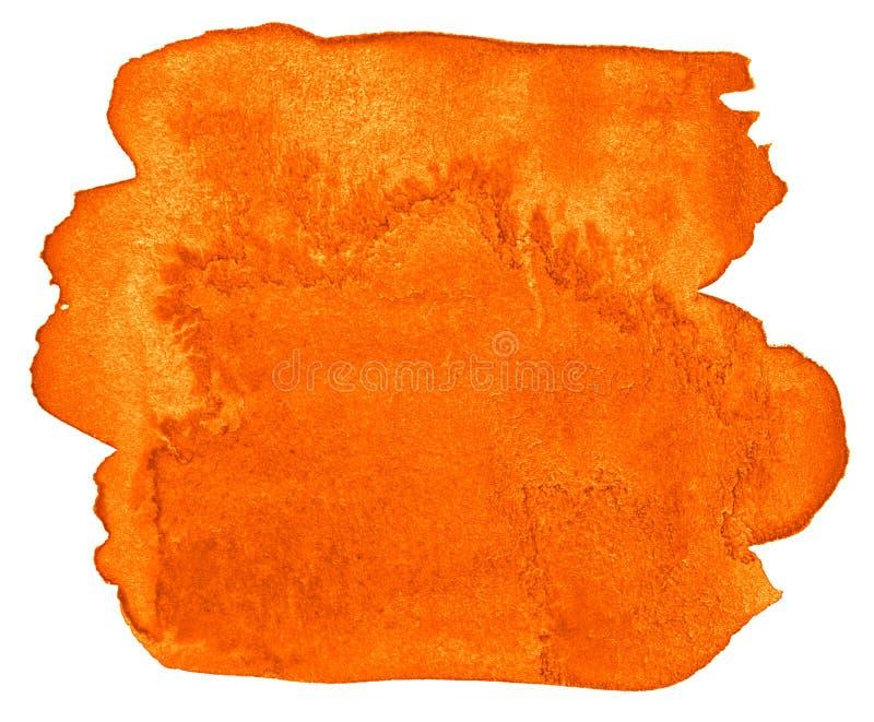 Abstrakt bakgrund för vibrerande orange vattenfärg, fläck, färgstänkmålarfärg, fläck, skilsmässa Tappningm?lningar f?r design vektor illustrationer