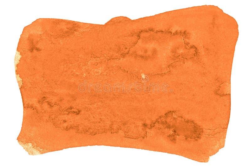 Abstrakt bakgrund för vibrerande orange vattenfärg, fläck, färgstänkmålarfärg, fläck, skilsmässa Tappningm?lningar f?r design royaltyfri illustrationer
