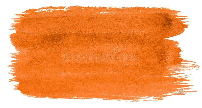 Abstrakt bakgrund för vibrerande orange vattenfärg, fläck, färgstänkmålarfärg, fläck, skilsmässa Tappningm?lningar f?r design och vektor illustrationer