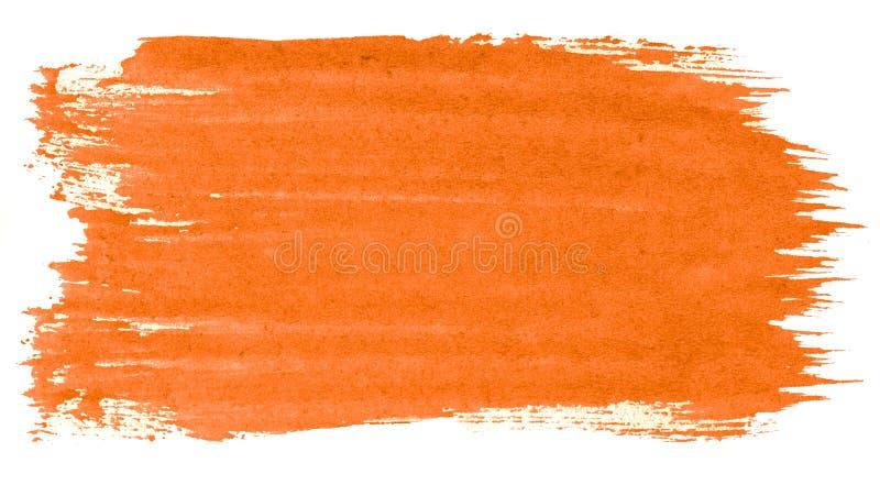 Abstrakt bakgrund för vibrerande orange vattenfärg, fläck, färgstänkmålarfärg, fläck, skilsmässa Tappningm?lningar f?r design och arkivfoton