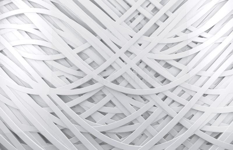 Abstrakt bakgrund för vit 3d vektor illustrationer
