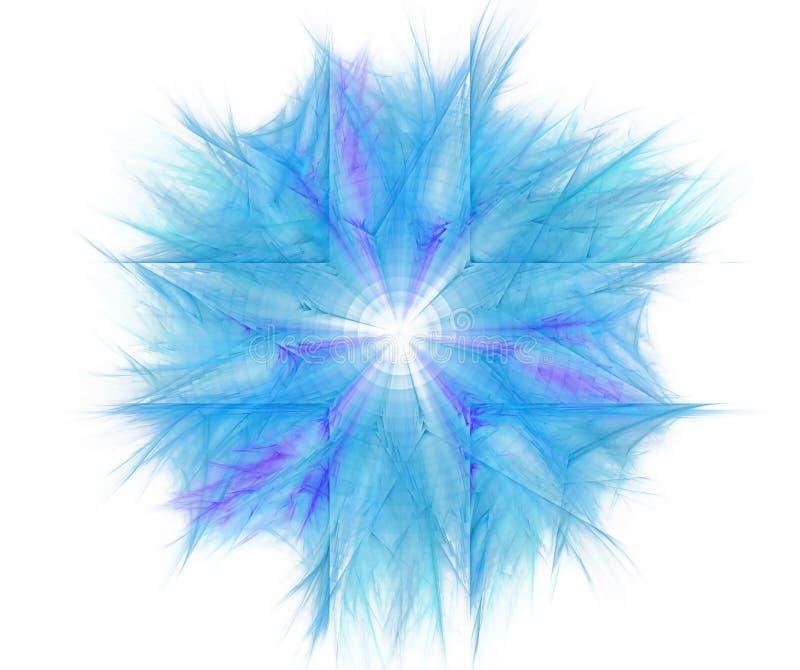 Abstrakt bakgrund för vit med fractalstjärnabakgrund Blå cro royaltyfri illustrationer