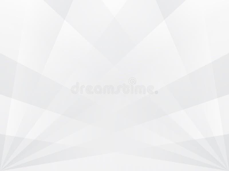 Abstrakt bakgrund för vit med grå genomskinlig strålkastaretextur stock illustrationer