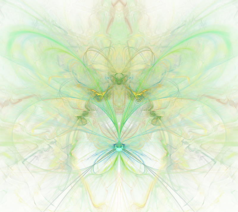 Abstrakt bakgrund för vit med regnbågen - gräsplan, turkos, yello vektor illustrationer