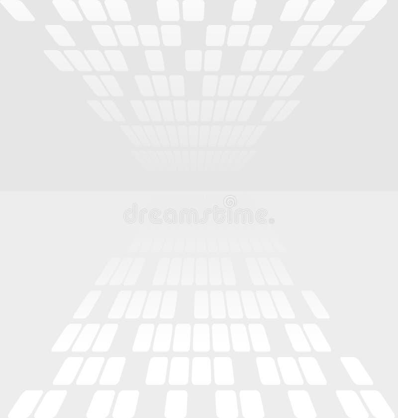 Abstrakt bakgrund för vit och för grå färger vektor illustrationer